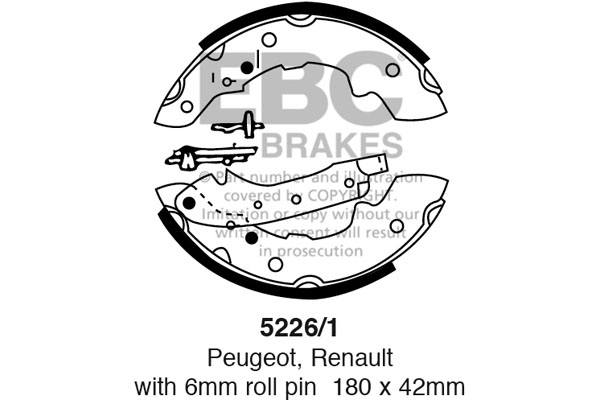 EBC Replacement Brake Shoe Set