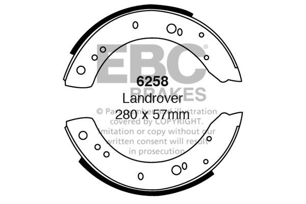 EBC Replacement Brake Shoe Set