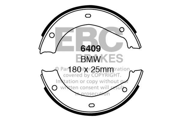 6409 EBC Rear Brake Shoes fit BMW