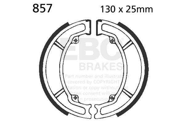 EBC Plain Motorcycle Replacement Brake Shoes