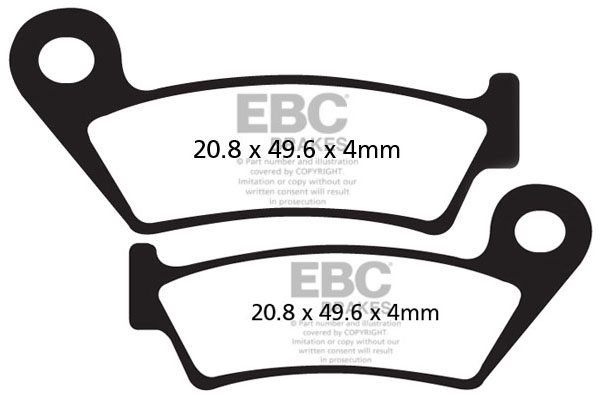 EBC All Round Cycle Brake Pads (2pcs)