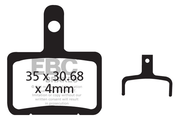 EBC Brakes X-Country Mountain Bike Brake Pads
