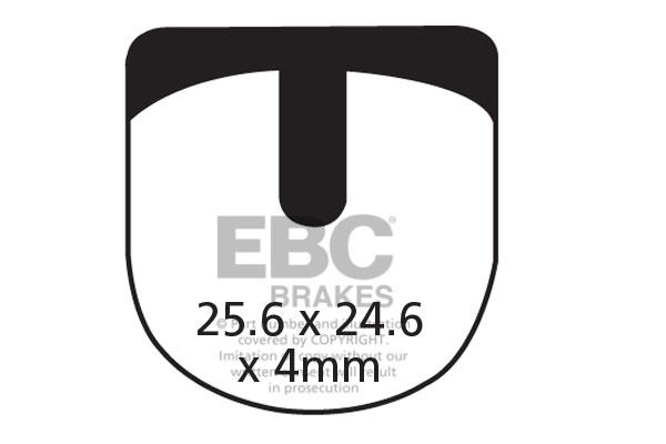 EBC All Round Bicycle Brake Pads (2pcs)