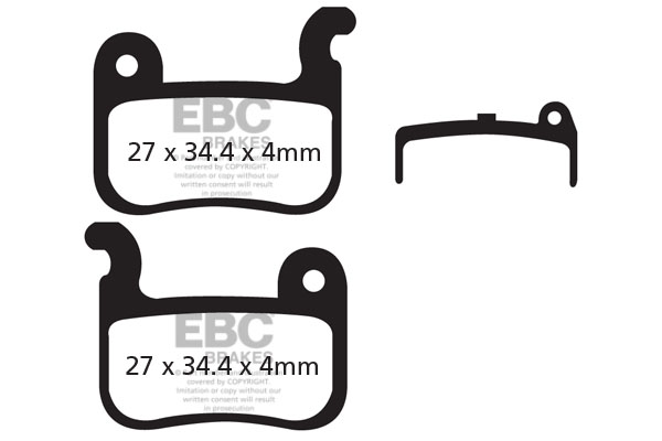 EBC All Round Bicycle Brake Pads (2pcs)