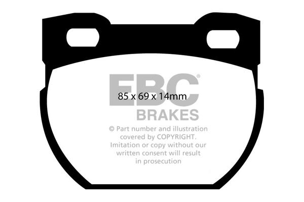DP6708 EBC Greenstuff Front Brake Pads fit 110//130 Defender 90 Defender 110//130
