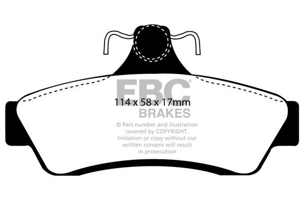 EBC DP21006 Ebc Brakepads Greenstuff Dp21006