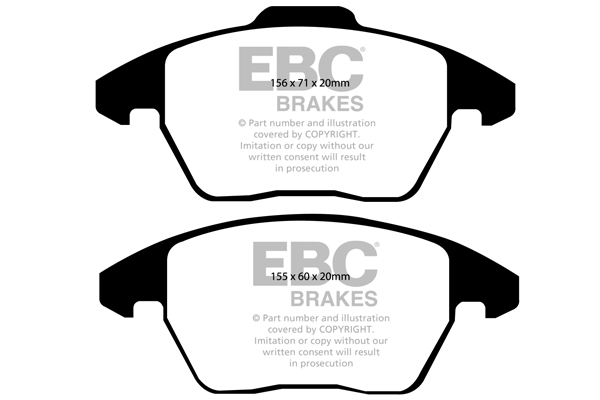 EBC Brakes DP31452C Redstuff Ceramic Brake Pads