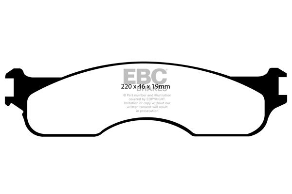 EBC Brakes DP61696//2 6000 Series Greenstuff Truck and SUV Brake Pad