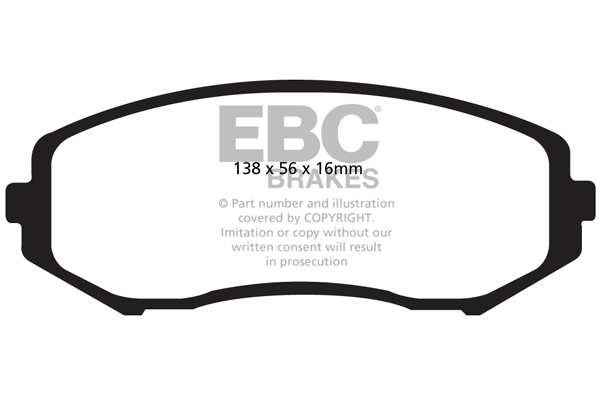 T-44 EBC ULTIMAX REAR PADS DP1955 FOR SUZUKI GRAND VITARA 1.9 TD 2006
