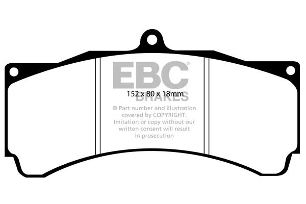 EBC Brakes DP21066 Greenstuff 2000 Series Sport Brake Pad