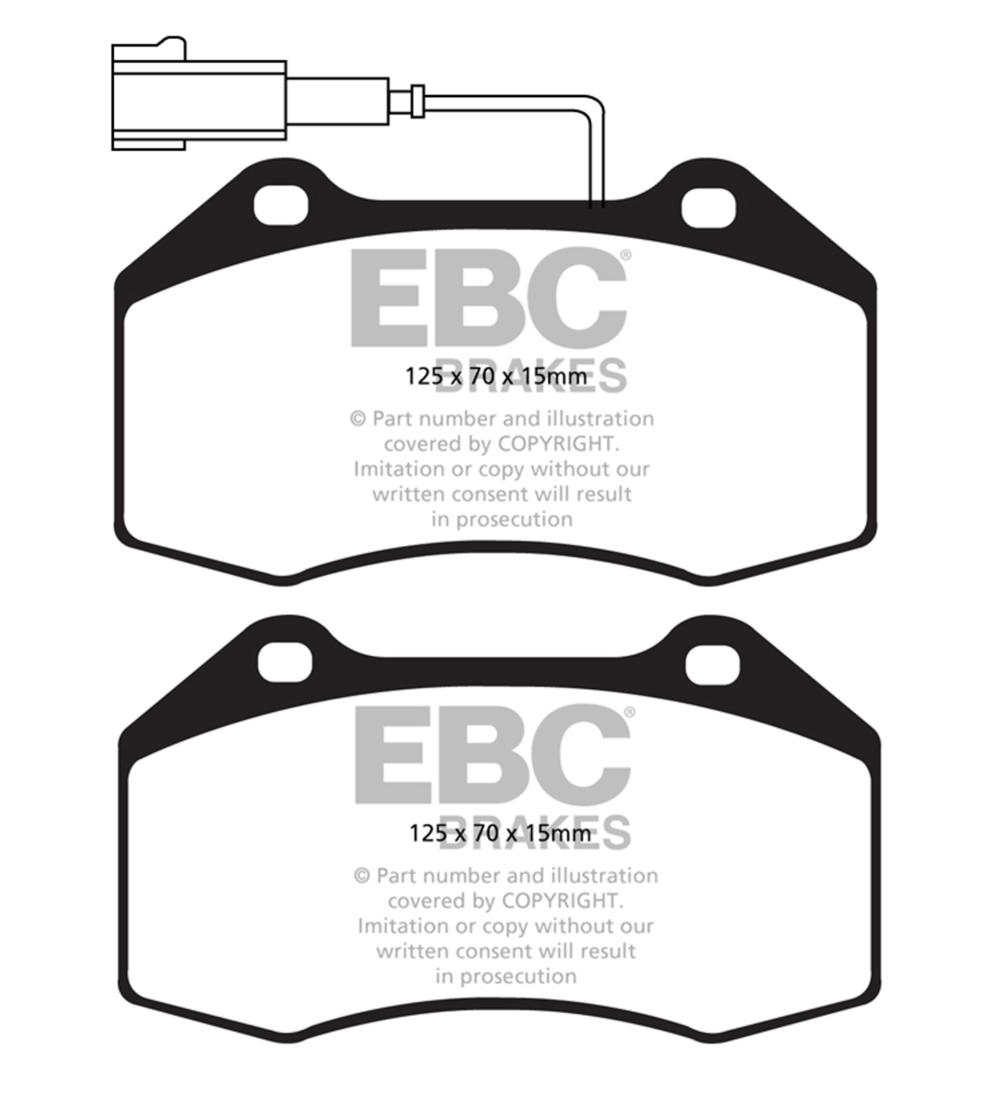 FAST STREET, TRACK, RACE EBC YELLOWSTUFF BRAKE PADS REAR DP41216R
