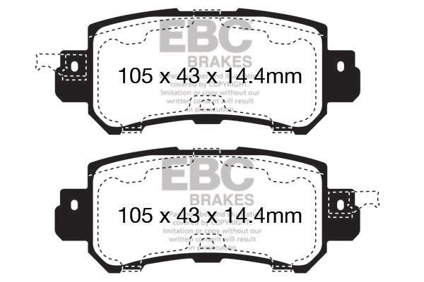 EBC DP22170 Ebc Brakepads Sports Greenstuff 2000 Series