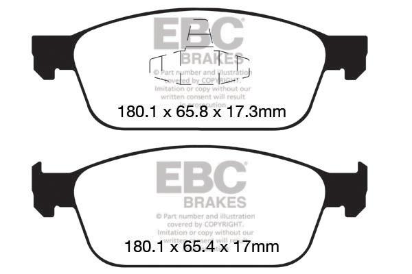 EBC GREENSTUFF BRAKE PADS REAR DP21749 TO FIT FOCUS MK2//3