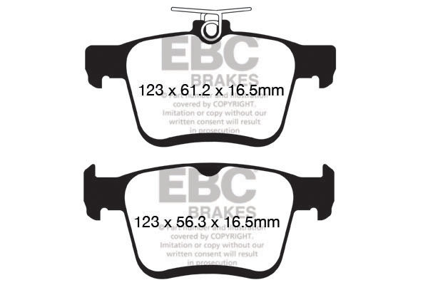 EBC Brakes DP42153R Yellowstuff Performance Brake Pads