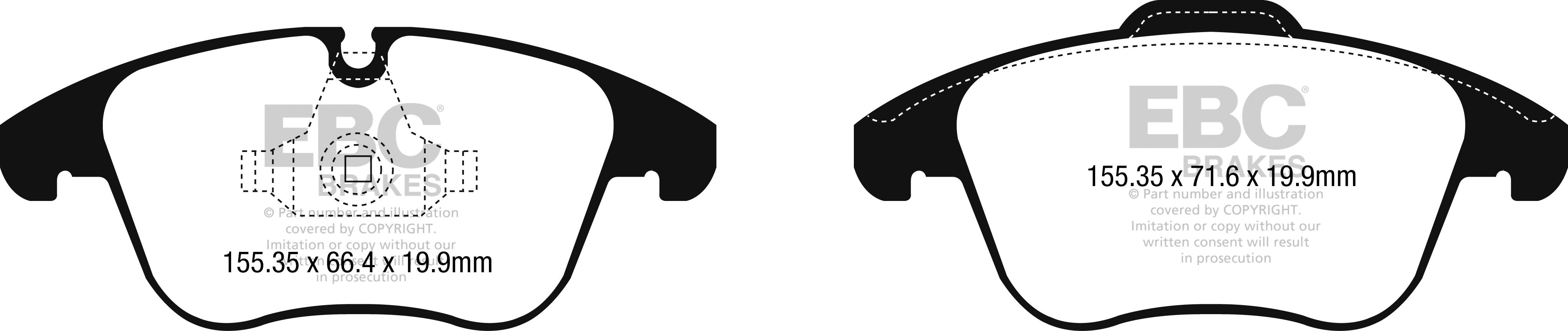 EBC DP22251 Greenstuff brake pad set front