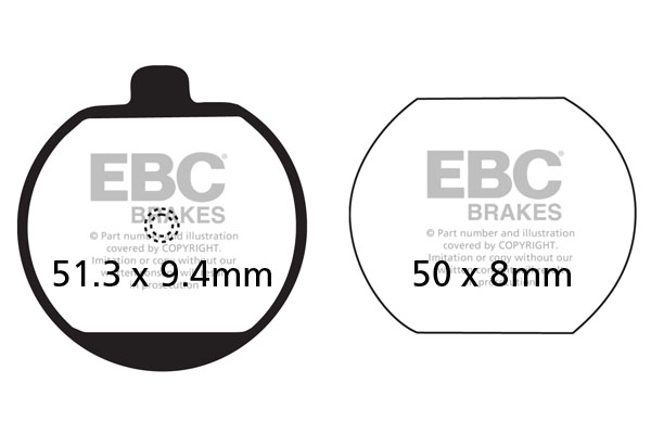 EBC Brakes British Made Kevlar® Organic FA Series Brake Pads