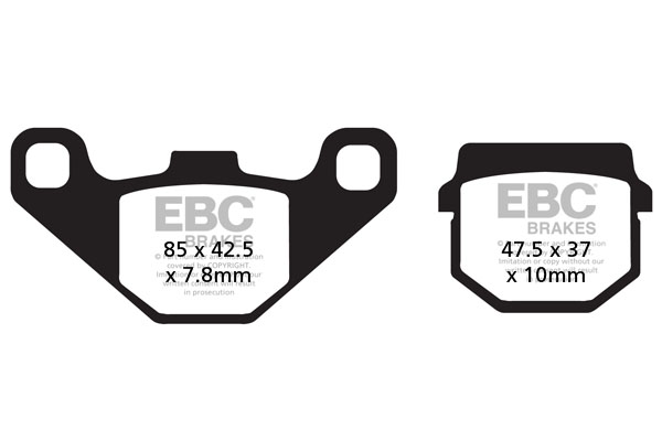 EBC Brakes Carbon TT Pads for Enduro/MX Bikes