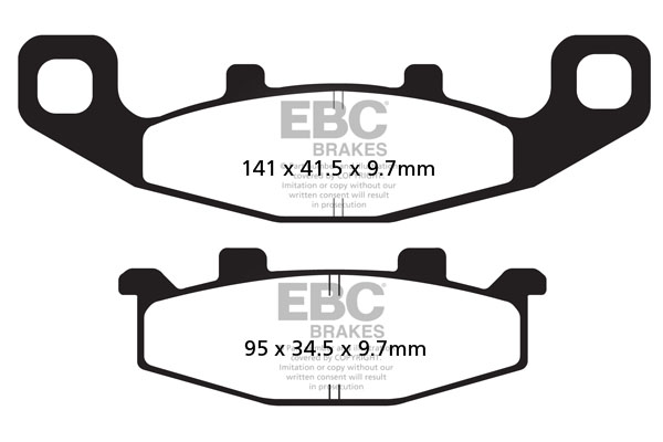 EBC Brakes USA Made EPFA Series Extreme Pro Sintered Brake Pads