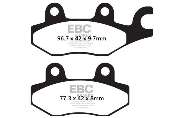 EBC Brakes Carbon TT Pads for Enduro/MX Bikes