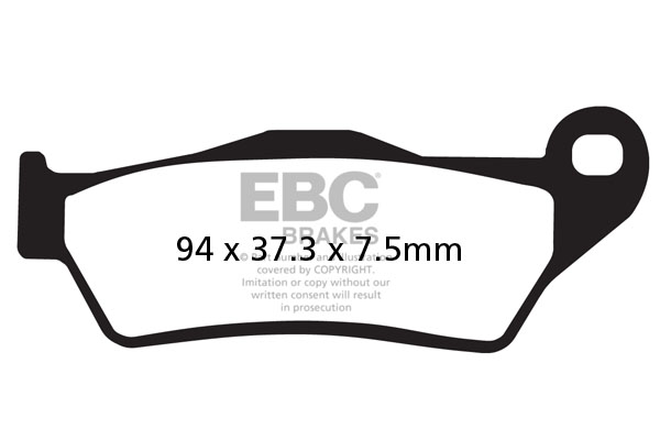 EBC Brakes USA Made Double-H Series Sintered Brake Pads