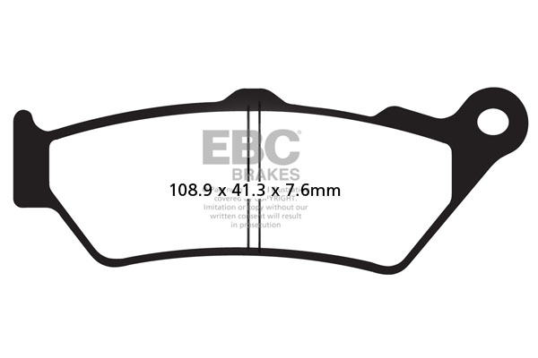 EBC Brakes British Made Semi-Sintered V-Pads