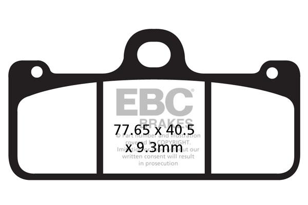 EBC Brakes USA Made EPFA Series Extreme Pro Sintered Brake Pads