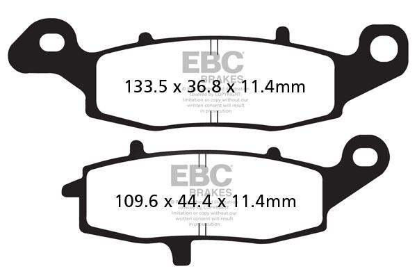 EBC Brakes British Made Semi-Sintered V-Pads