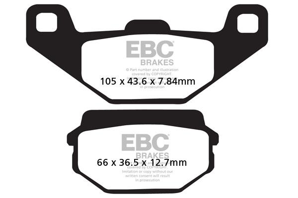 EBC Brakes British Made Kevlar® Organic FA Series Brake Pads