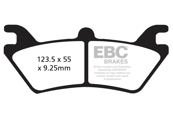 EBC Brakes R Series Heavy Duty Sintered Brake Pads