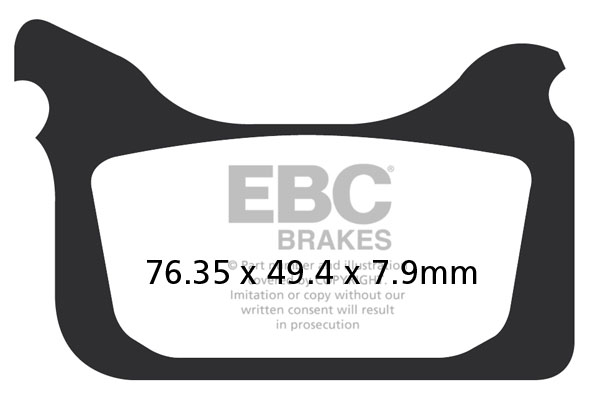 EBC Brakes® MXS Off Road Race Sintered Pads