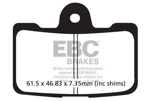 EBC Brakes USA Made Double-H Series Sintered Brake Pads