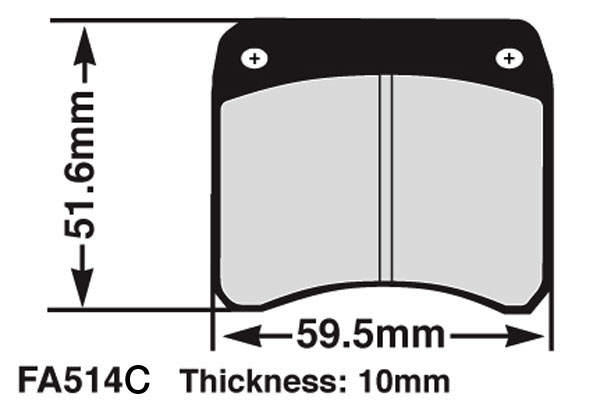EBC OTK Tony Kart Brake Pads Pattern Soft FA540S X 5 Sets Karting New