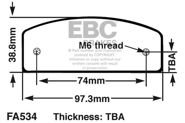 EBC Brakes Replacement Kart Brake Pad Set