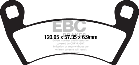 EBC Brakes R Series Heavy Duty Sintered Brake Pads