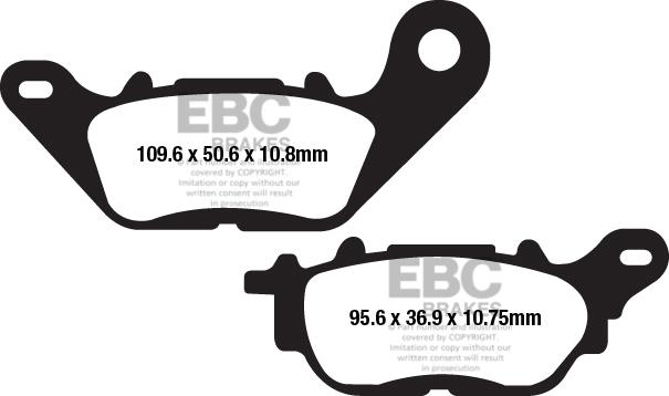 EBC Organic Brake Pad Front for BMW 80 100 850 1100 1150 1200