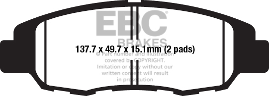 EBC Brakes Yellow Coded Upgrade Brake Pads