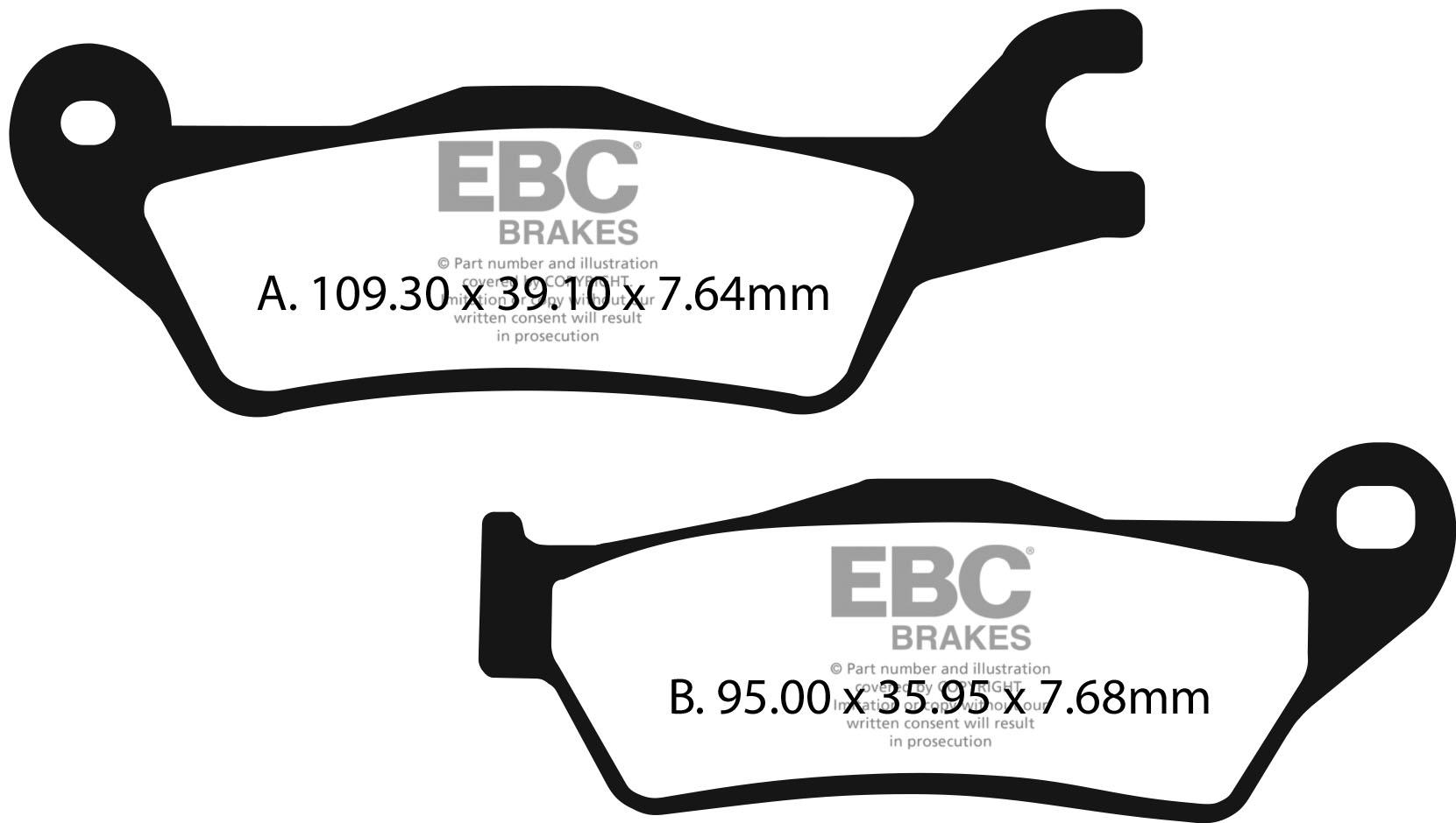 EBC Brakes British Made Organic FA Series Brake Pads