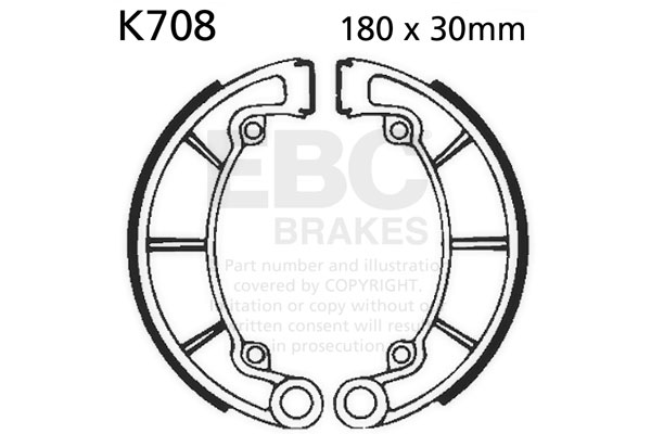 EBC Plain Motorcycle Replacement Brake Shoes