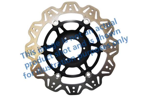 EBC Brakes® Vee-Series Sport Bike Disc (Black Hub)