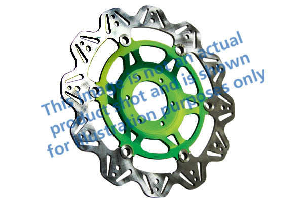 EBC Brakes® Vee-Series Sport Bike Disc (Green Hub)