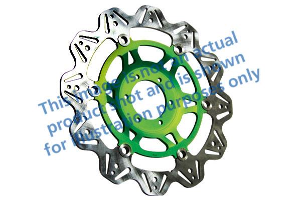 EBC Brakes® Vee-Series Sport Bike Disc (Green Hub)
