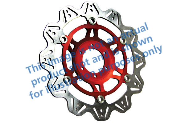 EBC Brakes® Vee-Series Sport Bike Disc (Red Hub)